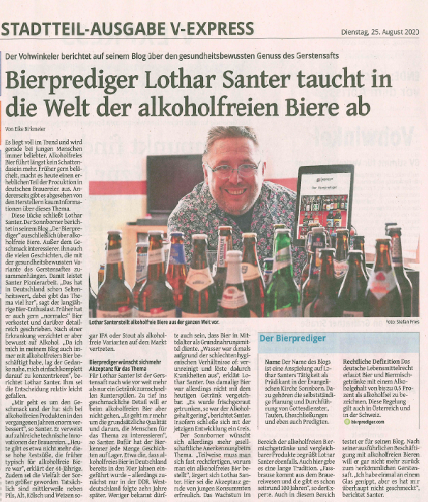 Biierprediger Westdeutsche Zeitung WZ V-Express