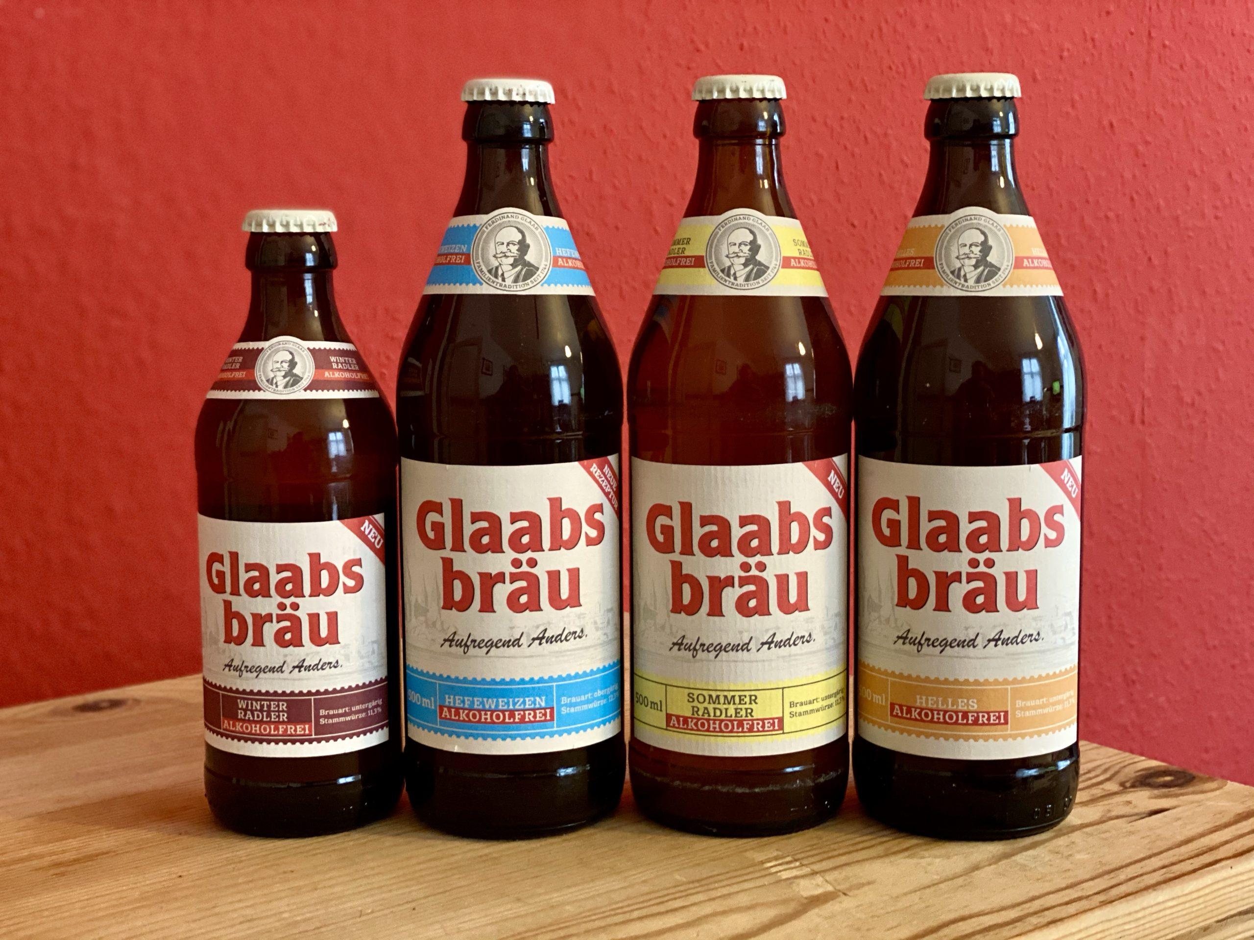 Glaabsbräu Winterradler Sommerradler Helles Hefeweizen alkoholfrei Bierprediger