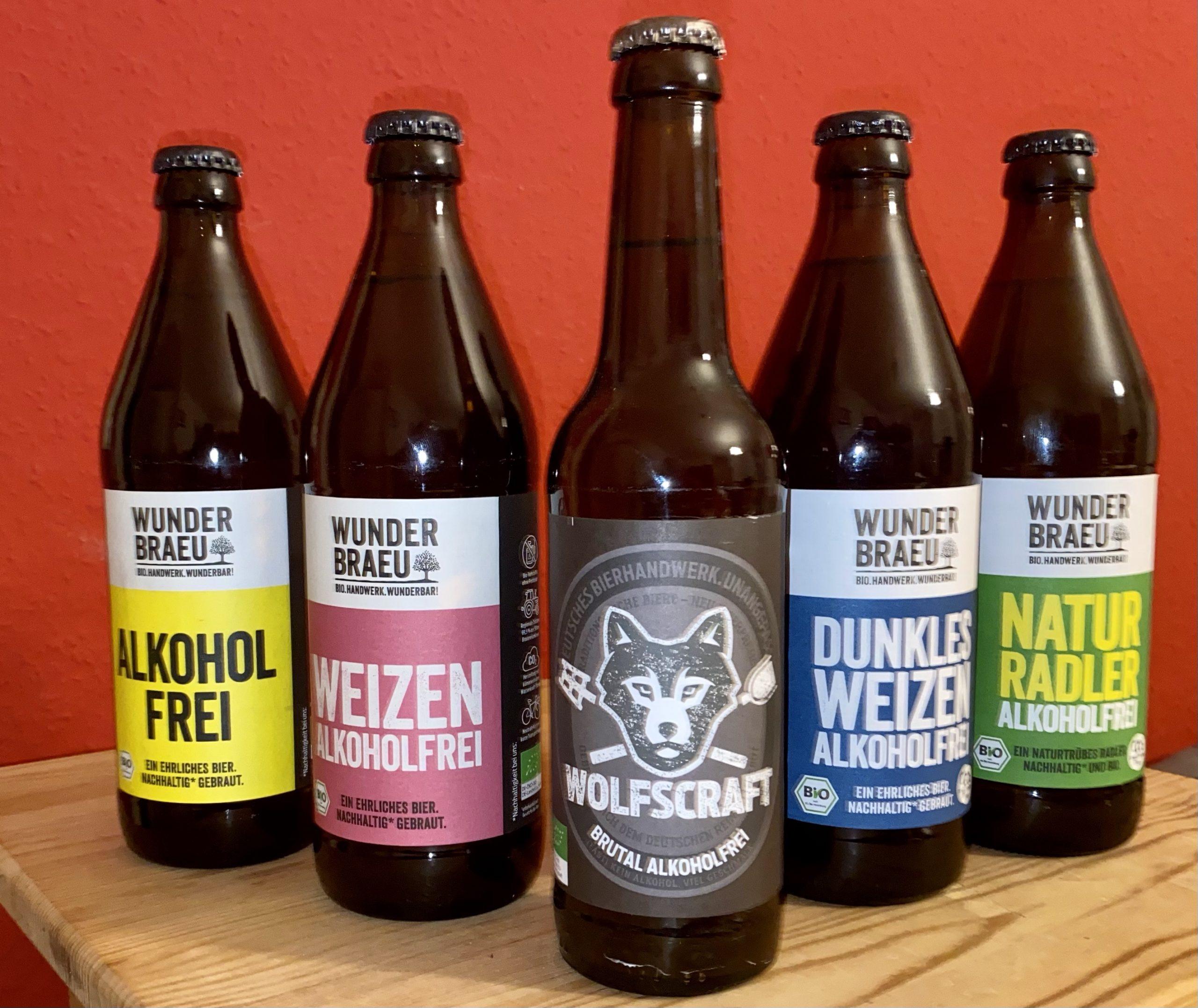 Wunderbräu Wunderbraeu Alkoholfre, Weizen, Naturradler Dunkles Weizen Bierprediger wolfscraft brutal
